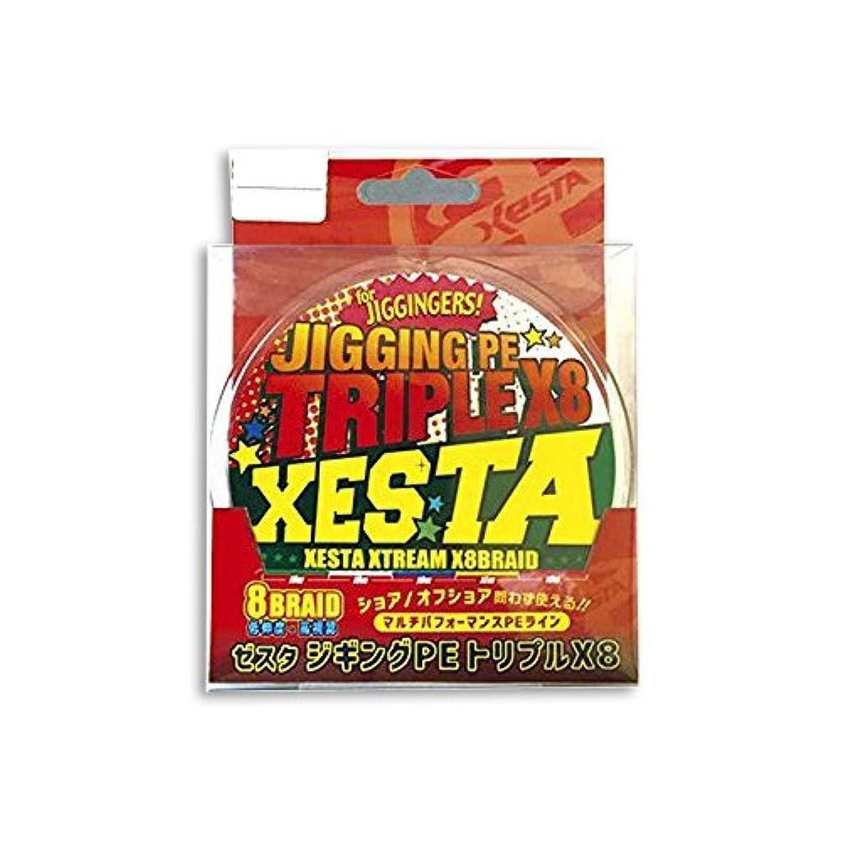 試してみる咲く風ゼスタ(XESTA) PEライン ジギングPE トリプルX8 300m 1号 17lb(7.7kg)