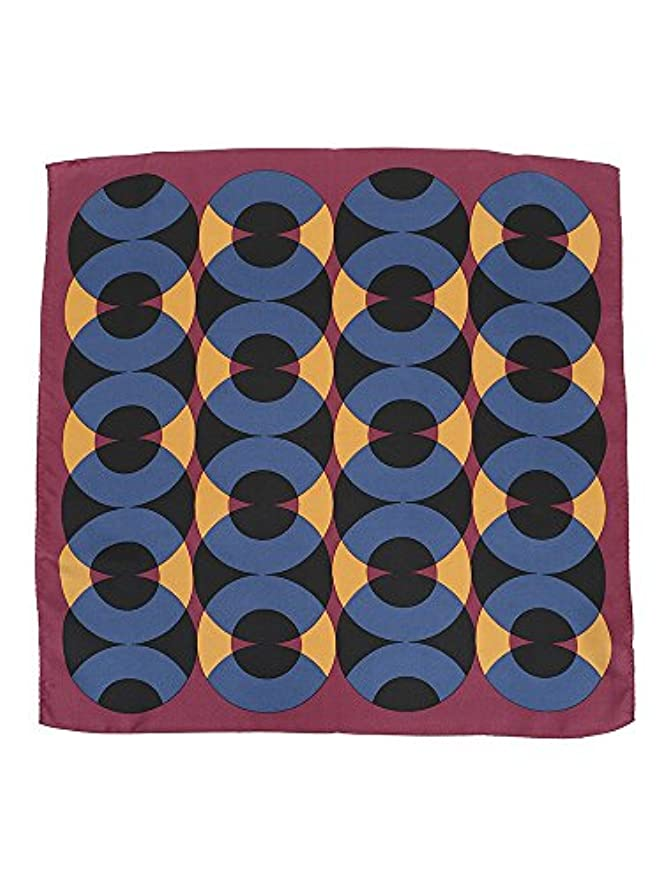 スピン楽しい慣れる(ザ?スーツカンパニー) destyle/JAPAN QUALITY/シルクツイルジオメトリックプリントプチスカーフ レッド系