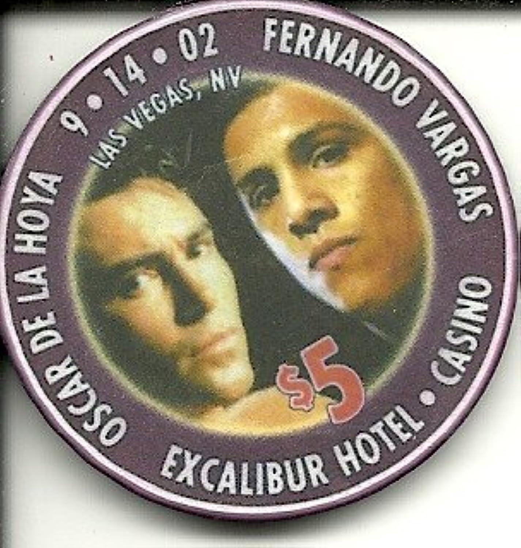 $ 5 ExcaliburホテルOscar De La Hoya Fernando Vargasラスベガスカジノチップ