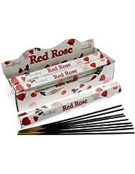 Stamford Hex Incense Sticks - Red Rose
