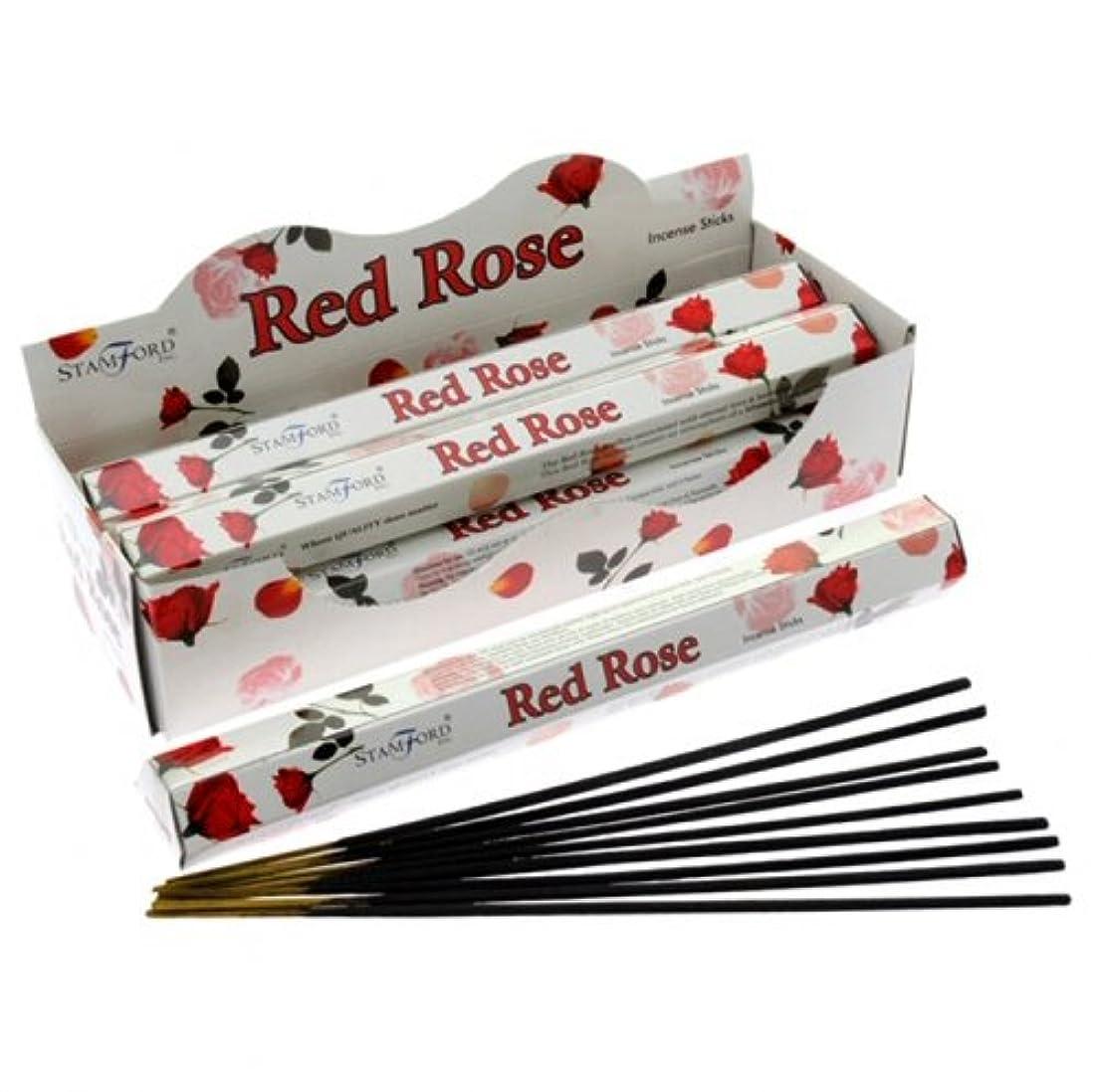 配列ベジタリアンスポンジStamford Hex Incense Sticks - Red Rose