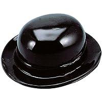 Black Plastic Derby Hat 黒いプラスチック製のダービーハット?ハロウィン?クリスマス?One size