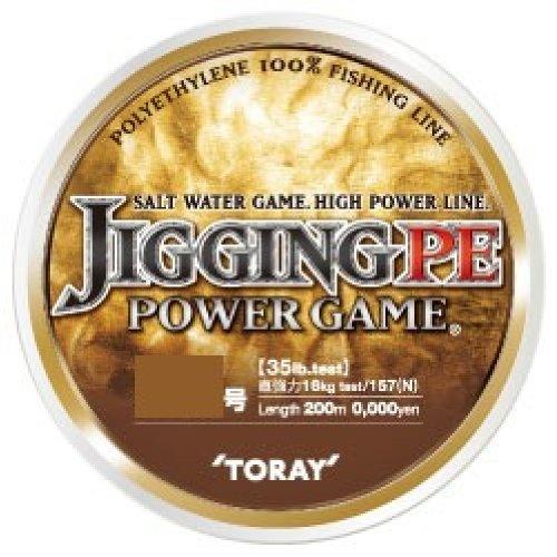 東レ(TORAY) PEライン ジギングPE パワーゲーム 200m 1.5号 18lb 7.5kg 4本 5色