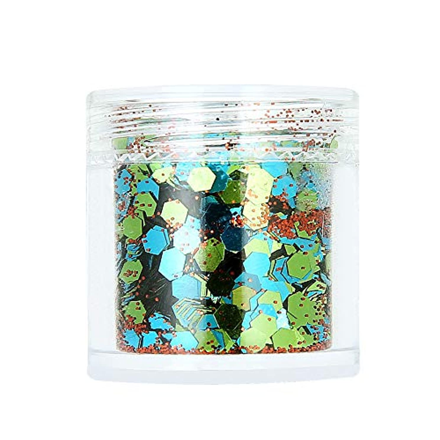 毎月決して温度計5ボトルルーススパンコールパウダーフェイスボディグリッターパレットネイルアートの装飾メイク