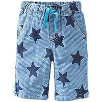 SanReach Little Boys' Star Printed Stripes Cotton Shorts