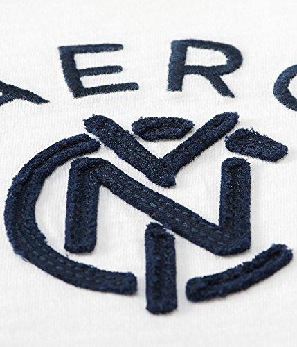 (エアロポステール)AEROPOSTALE 半袖ポロシャツAero NYC Linked Logo Jersey Polo ホワイト White (XXXL) [並行輸入品]