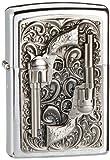 ジッポー Zippo 2001654 No.200 Revolver Emblem Cigarette Lighter