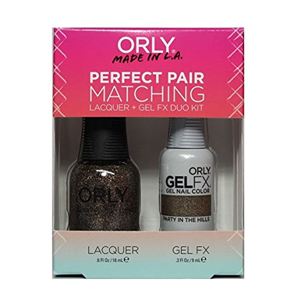 インディカトピックグラフィックOrly - Perfect Pair Matching Lacquer+Gel FX Kit - Party In The Hills - 0.6 oz / 0.3 oz