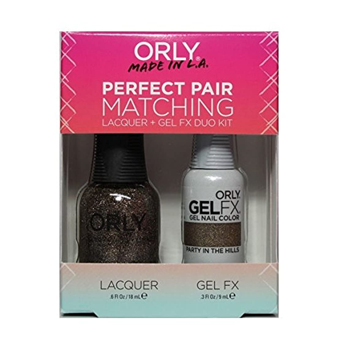 特権腫瘍信条Orly - Perfect Pair Matching Lacquer+Gel FX Kit - Party In The Hills - 0.6 oz / 0.3 oz