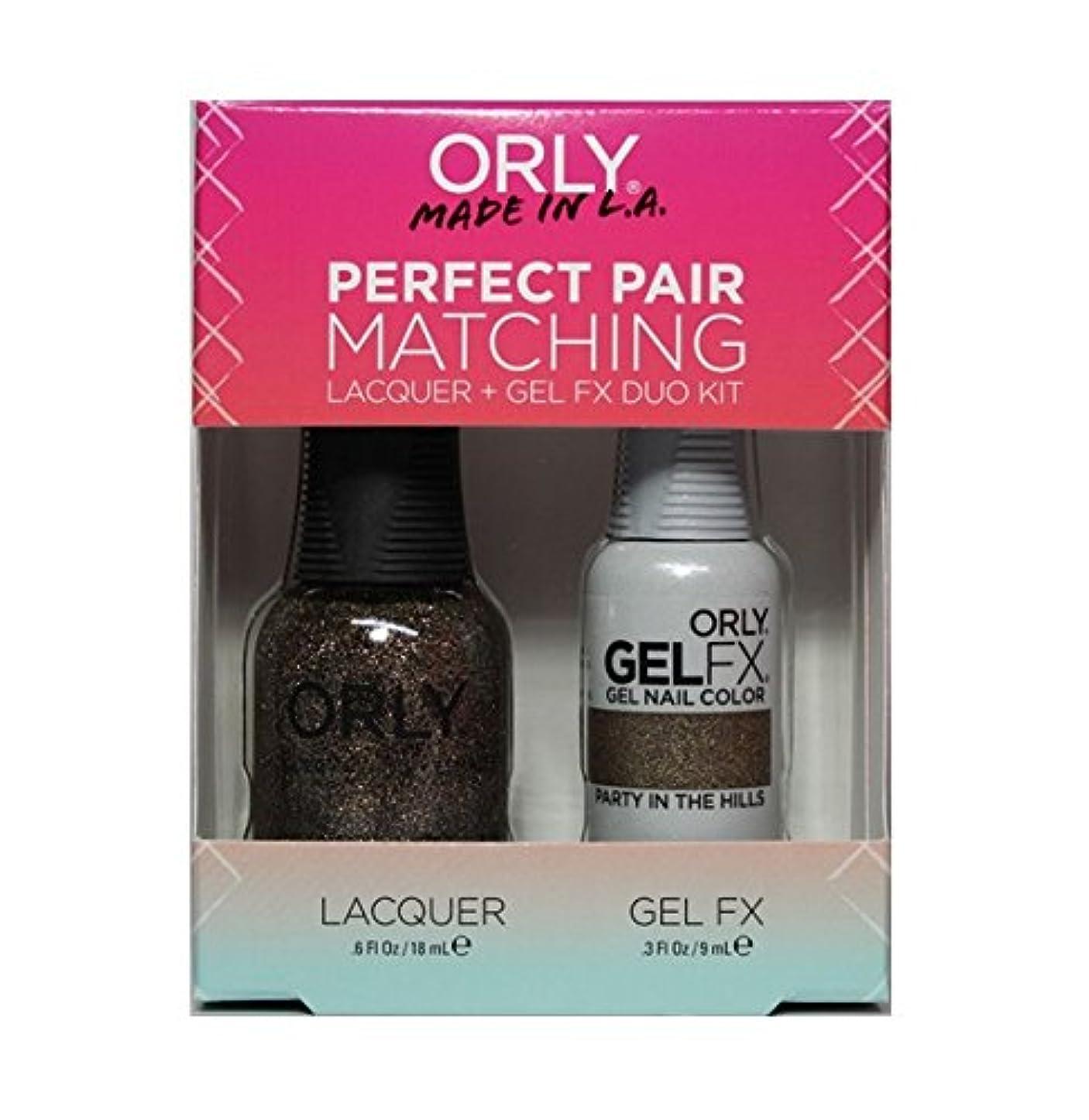 単調な悩むタイピストOrly - Perfect Pair Matching Lacquer+Gel FX Kit - Party In The Hills - 0.6 oz / 0.3 oz
