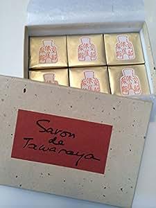 俵屋旅館 俵屋の石鹸 【紙袋付き】 6個入り 製造元:松山油脂