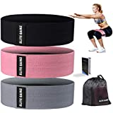 Elite Gainz Resistance Booty Bands Set: 3 Non-Slip Fabric Exercise Bands for Butt, Leg & Arm Workout. Perfect Gym Home & Travel Hip Bands for Women. Exercise Program and Carry Bag Included.