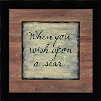 When You Wish Upon A Star – Inspirational Signs Fineアートプリントby Tribbet、カレン・ – Choose yourサイズとフレームオプション 18x18 pef-48_KT065-18x18-studio