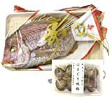 お食い初め 鯛 天然鯛の塩焼き 国産 800g ハマグリ お吸物 築地直送 尾頭付き鯛 長寿祝【祝鯛800g+蛤のお吸物】