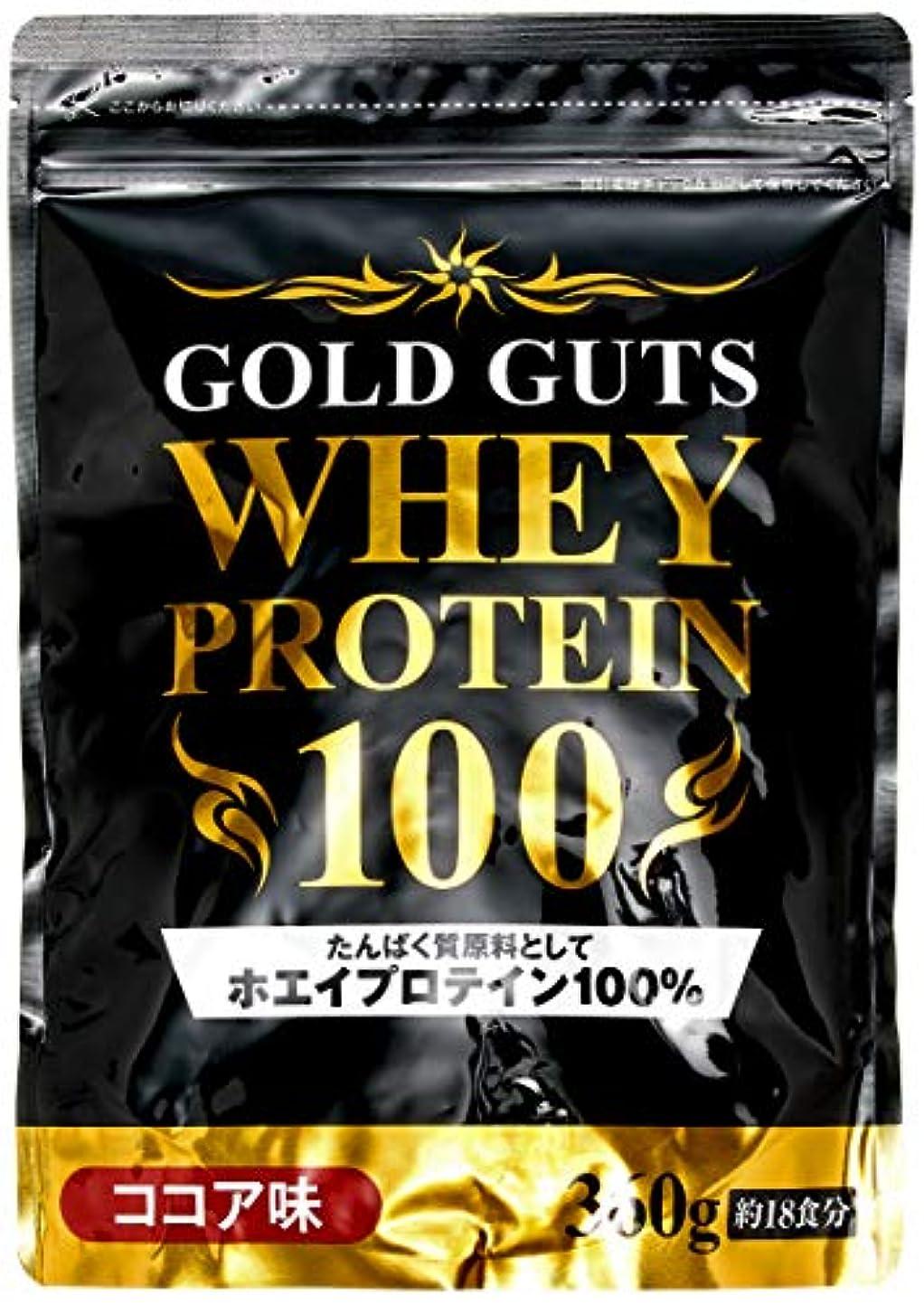 うがい二十タイピストGOLD GUTS ゴールドガッツホエイプロテイン100 ココア味 360g