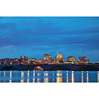 ArtzFolio DC Cityscape At The Night Time, Washington, USA Unframed Premium Canvas Painting 30 x 20inch