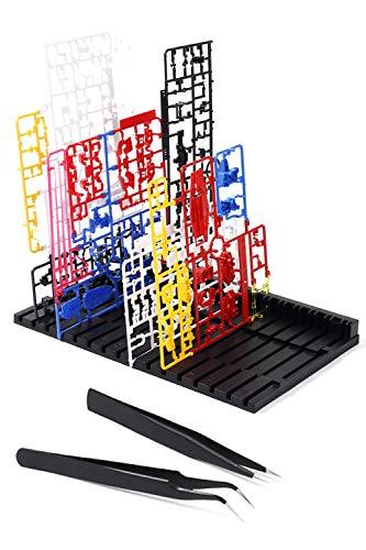 Libexy ランナースタンド プラモデル パーツ立て ピンセット2種付き ガンプラ 模型 塗装 乾燥 プラモ