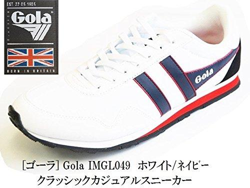 Gola(ゴーラ) ゴーラ IMGL049 (Gola) クラッシックスニーカー 2017年モデル 日本正規代理店 メンズ 注目人気商品です (10インチ(28センチ相当), ホワイト/ネイビー)