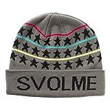 SVOLME(スボルメ)スターロゴビーニー 帽子 ニットキャップ サッカー フットサル グレー 163-96221 GRAY FREE