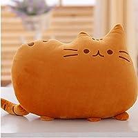 LIWEIKE®  フワフワ 柔らか かわいい ネコ クッション 抱き枕 オフィス用にも (オレンジ)