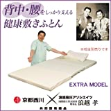 【京都西川】背中・腰をしっかり支える健康敷きふとん ダブルサイズ(140×200cm) エクストラモデル 3分割バランスタイプ
