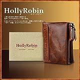 HollyRobin 二つ折り 財布 メンズ (ブラウン)
