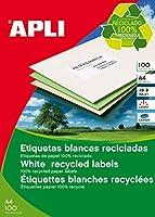 APLI A4リサイクル紙ラベル 100枚2面 12069