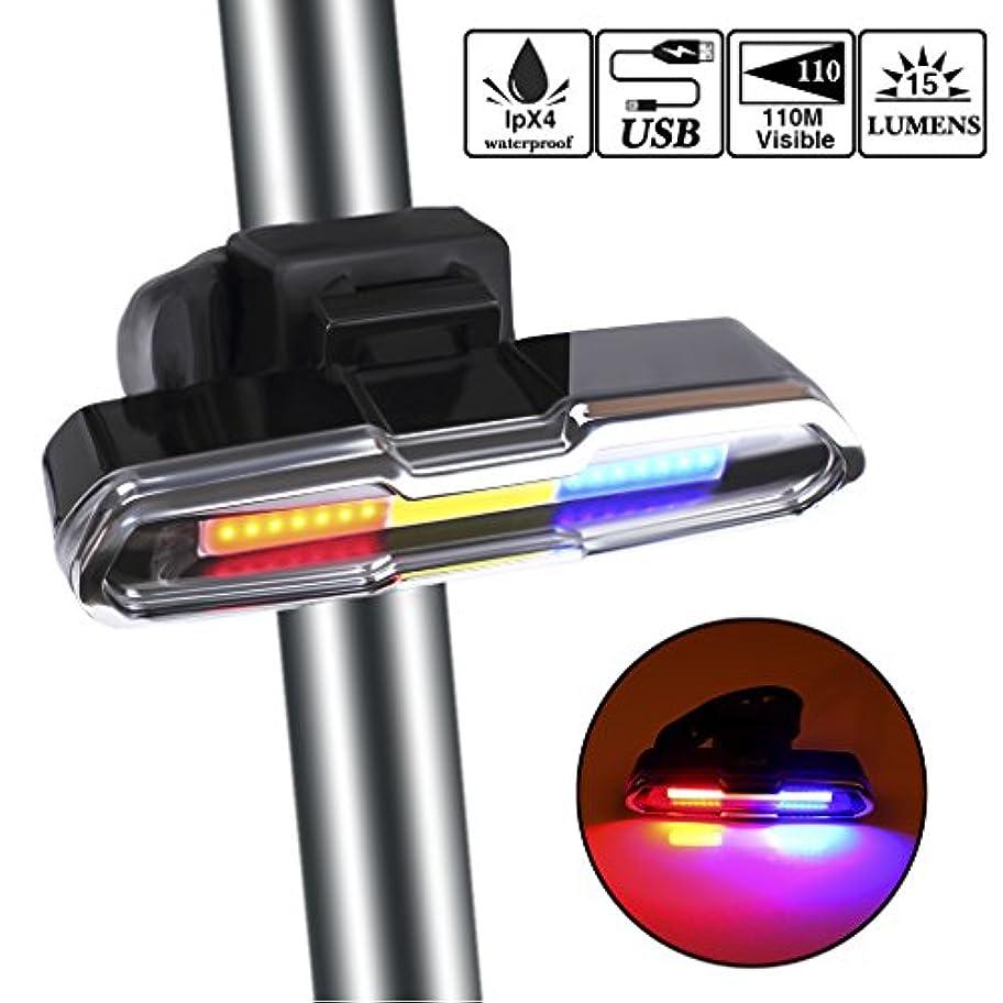 異形ランチ作曲するEFORCAR 自転車 ライト 自転車テールライト LED USB充電式 超高輝度LED 3色6種点灯 IPX4防水 夜間走行の視認性をアピール バイクの安全リアライト