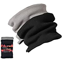 Jormatt 2 Pack Thick Neck Warmers Fleece Heat Insulated Thermal Neck Gaiters Unisex Winter