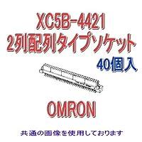 オムロン(OMRON) XC5B-4421 (40個入) 2列配列タイプソケット ディップストレート端子 44極 NN
