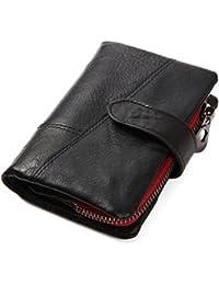 seyococogi 二つ折り 財布 本革 羊革 シープスキン メンズ ラウンドファスナー 小銭入れ コインケース 免許証入れ カード9枚収納 コンパクト 柔らかい