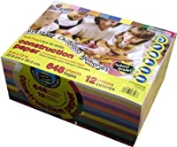 """Heavyweight Construction Paper: School Grade ~ 9"""" X 12"""" - (VALUE MEGA PACK 648 SHEETS) by Pacon Creative Products [並行輸入品]"""