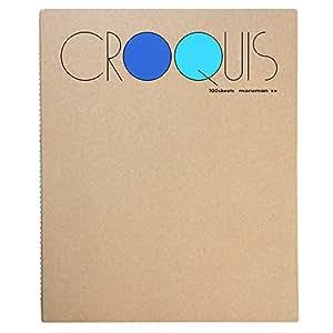 マルマン スケッチブック クロッキー帳 白クロッキー紙 ブルー SM-02