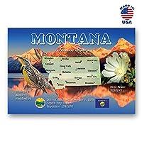 MONTANA MAP ポストカード 20枚セット 同一のポストカード MT州地図ポストカード アメリカ製。