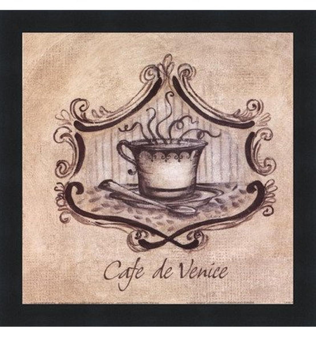 エレベーターゆでる駐地Cafe De Venice by Kate McRostie – 9 x 9インチ – アートプリントポスター LE_104100-F101-9x9