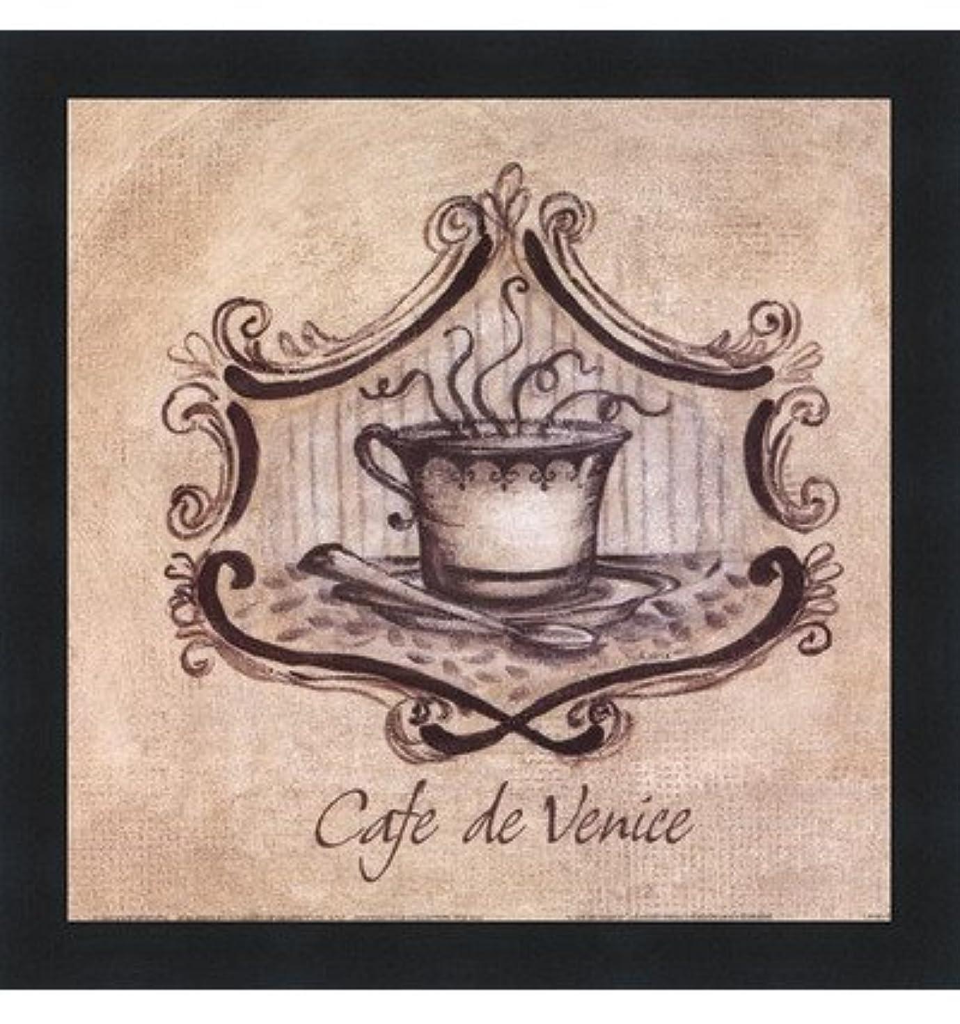 アラビア語緩むプレゼンCafe De Venice by Kate McRostie – 9 x 9インチ – アートプリントポスター LE_104100-F101-9x9