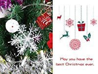 yuanweiwang 42684373177 クリスマスツリーオーナメント スノーフレーク 吊り下げチャーム クリスマスツリーオーナメント ホームホリデーパーティーデコレーション