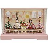 雛人形 大里彩 木目込 親王飾り ケース入り 幅49cm [fz-316] ひな人形