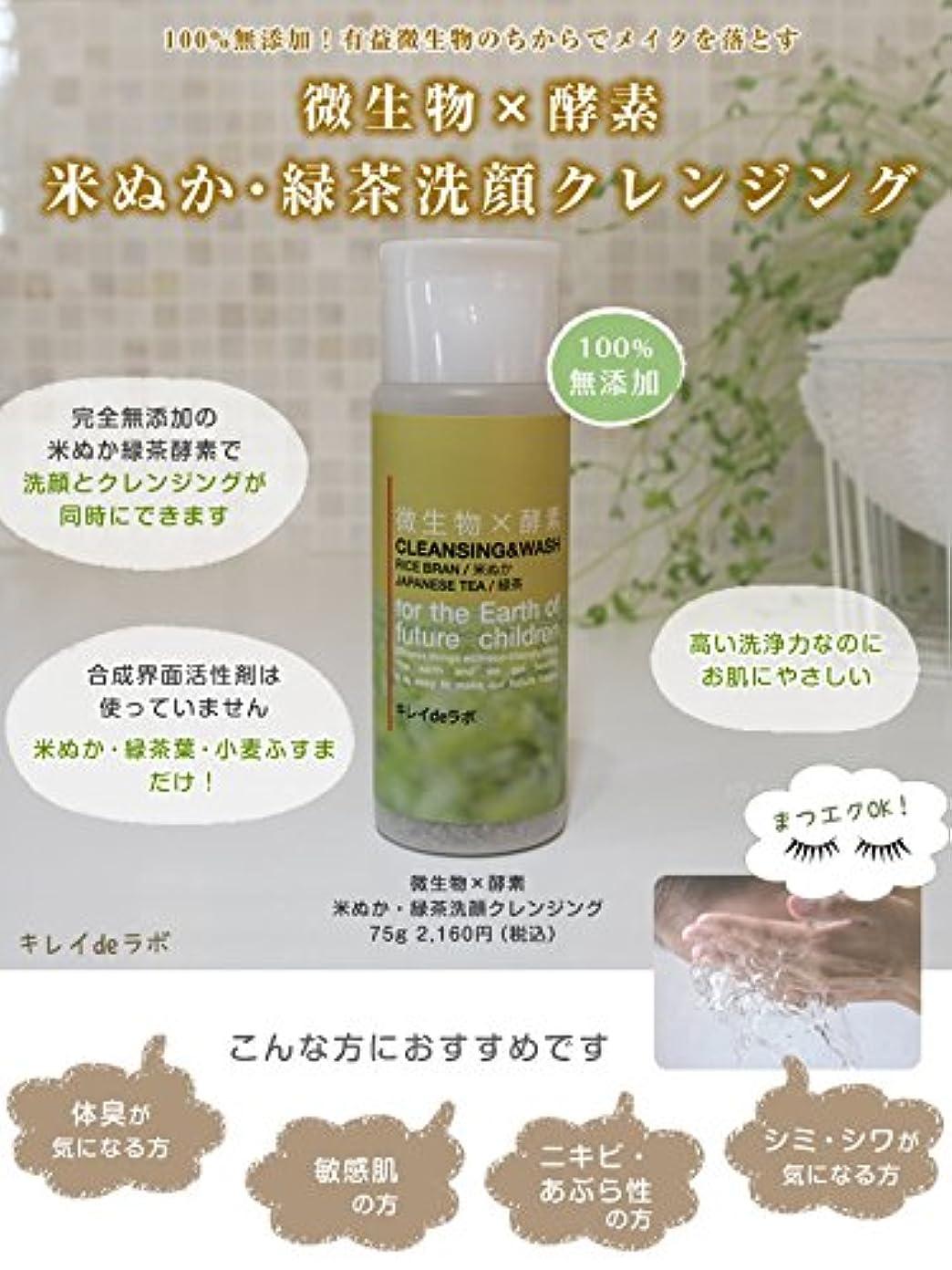 動揺させるスキム太鼓腹微生物×酵素 米ぬか緑茶洗顔クレンジング100%無添加 マツエクOK … (本体 75g) みんなでみらいを 米ぬか使用