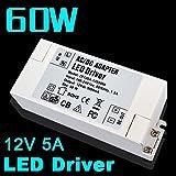 eforlighting LED電源供給12V 5A 60W LEDドライバ電源供給照明変圧器AC DCアダプター100V - 240V LEDランプストリップ110V 220V