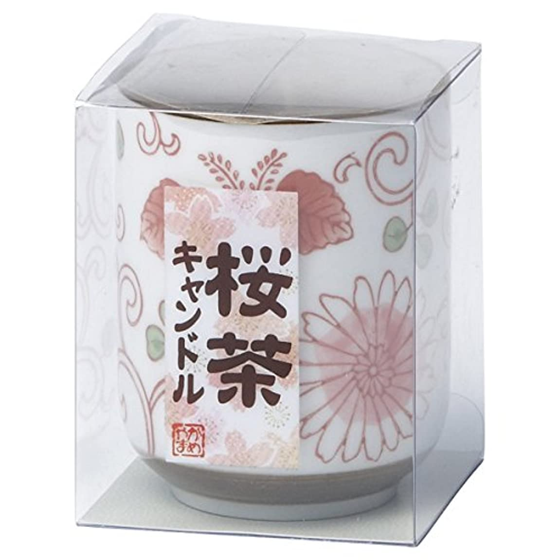 光沢のあるハント道徳の桜茶キャンドル