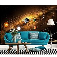 Wuyyii 3D壁画の星と夜の青い海の壁紙Papel De Parede寝室のソファテレビ壁画壁紙-400X280Cm