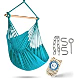 (Limpet Shell) - XXL Hammock Chair Swing by Hammock Sky - for Patio, Porch, Bedroom, Backyard, Indoor Or Outdoor - Includes H