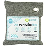 APALUS 200g Natural Air Purifying Bag. Odor Eliminator for Cars, Closets, Bathrooms and Pet Areas. Captures and Eliminates Od
