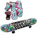 ラングスジャパン(RANGS) ラングスR1スケートボード ホワイト プロテクターセット C (PKBL)