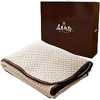 麻夢物語 麻 敷きパッド クイーン ベッドパッド としても使える 丸洗いできる 天然素材 160×205cm 洗える ウォッシャブル 抗菌