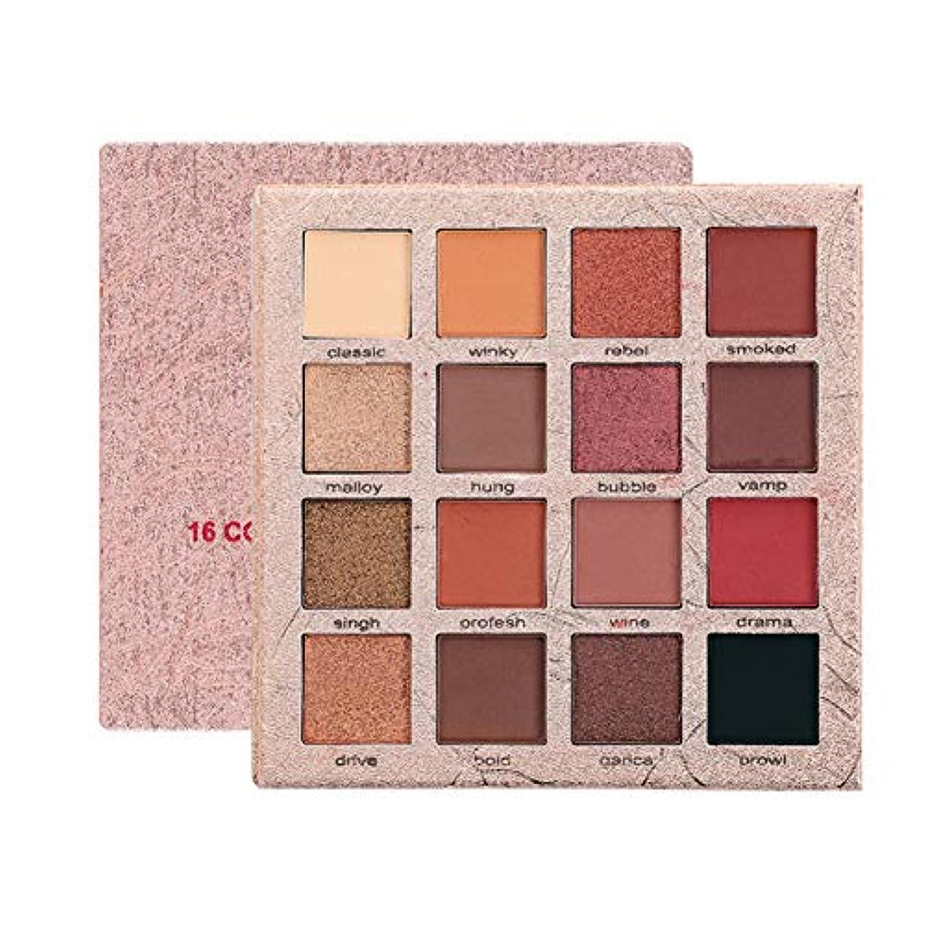 16色アイシャドーパレット、化粧品長持ちするつや消しグリッターアイシャドウパウダー
