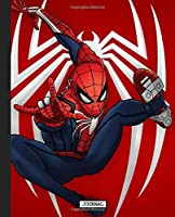 Journal: Journal Amazing Spiderman Peter Parker Comic Cute Drawing Photo Art Soft Glossy Wide Ruled Fantastic with Ruled Lined Paper for Taking Notes Writing Workbook for Teens and Children Students School Kids Spiderman Lovers