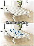 折りたたみ樹脂すのこベッド 完成品 スノコベッド コンパクト 樹脂 シングル アイボリー SA707IV