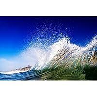泡沫波が波打つビーチ - #44220 - キャンバス印刷アートポスター 写真 部屋インテリア絵画 ポスター 50cmx33cm